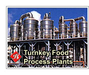 Turnkey food process plants